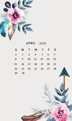 Amazing April 2018 Calendar Wallpaper