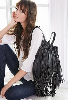 Fringed Faux Leather Backpack | FOREVER21 | #F21Accessorize
