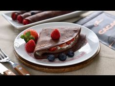 Chocolate crepes with mascarpone filling Waffles, Pancakes, Chocolate Crepes, Romanian Food, Gem, Sweets, Breakfast, Desserts, Youtube