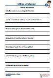 #Saetze #umstellen 4.Klasse #Englisch Arbeitsanweisungen sind in den Lösungen in Englisch übersetzt. #Arbeitsblaetter / Übungen / Aufgaben für den Rechtsschreib- und Deutschunterricht - Grundschule.  Es handelt sich um 154 Sätze, die auf 11 Arbeitsblätter verteilt sind. Die Sätze sollen 2 - mal umgestellt und aufgeschrieben werden. Wortschatz 4.Klasse - Grundschule.  Schriftart: Grundschule Basic  11 Arbeitsblätter + 6 Lösungsblätter