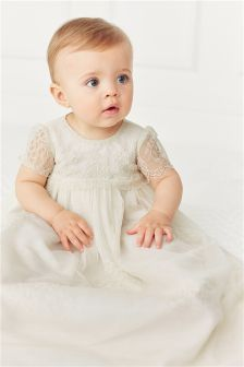 Ecru Lace Christening Gown (0-18mths)
