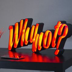 "3D Printable LED light letters ""Why not?""    by Antonio García"