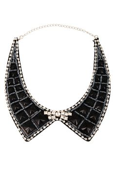FREE SHIPPING peter pan collar necklace beads by trendycollars, $19.90