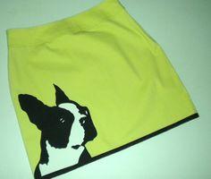 Boston Terrier Skirt by Donnaskirts on Etsy - that is fabulous! Boston  Terrier 41fa56b6c