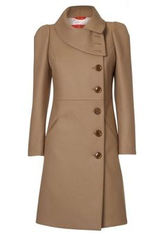 vivienne westwood camel high collar coat