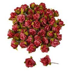 50 Rosenköpfe in Rot als Streudeko Bild 1