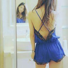 Blue Night Romper Brand new Intimates & Sleepwear Pajamas