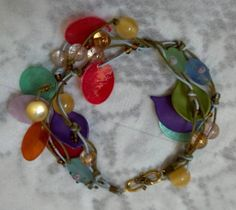 Colorburst Bracelet in Red Blue Green Leaves and by MyBuddyBling, $8.00