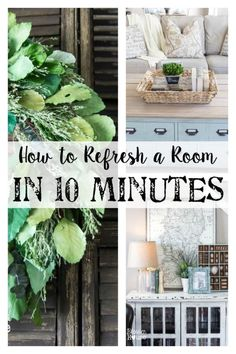 6 simple ways to refresh a room, in 10 minutes or less. Great for when company is coming or when you just need a little change in your home decor! #spon