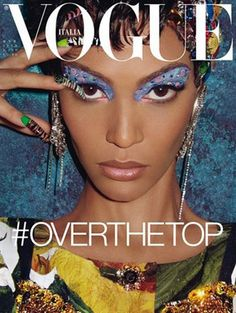 After 4 years a color model in the cover of Vogue Italia. Joan Smalls.