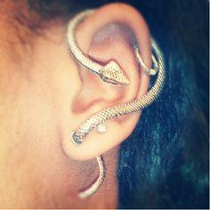 Snake Twist Ear Cuff, $8.00 #earcuff