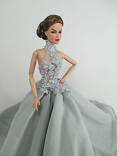 Handcrafted Barbie Doll Outfit Gown Dress fashion Royalty 35-51