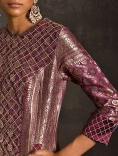 Brocade Suits, Brocade Dresses, Silk Suit, Silk Brocade, New Dress Design Indian, Indian Designer Wear, Designer Party Wear Dresses, Kurti Designs Party Wear, Indian Attire
