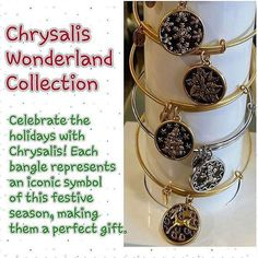 Find that beautiful #Chrysalis bangle bracelets in our Pink Flame Wonderland collection our Naughty or Nice Prize tarts and our body butters!  http://ift.tt/1mLfunp