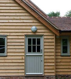Boarder Oak Wooden Cladding Exterior, Larch Cladding, Shiplap Cladding, House Cladding, Wood Facade, Cottage Exterior, Modern Farmhouse Exterior, Porch Interior, Border Oak