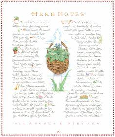 susan branch herb notes
