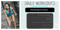 Hamstring & Calves workout to try at the gym!