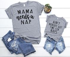Mama Needs a Nap Set – Mother Son Matching Shirts – Mom and Daughter Matching Shirts – Mom and Baby Boy Matching – Mother Son T Shirts Mama braucht ein nickerchen set mutter sohn passende shirts mama und Funny Kids Shirts, Baby Shirts, Family Shirts, Cute Shirts, Awesome Shirts, Ladies Shirts, Girl Shirts, Awesome Mom, Mommy And Me Shirt
