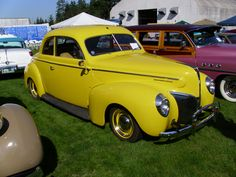 Yellow Vintage car, Visit http://www.etsy.com/shop/Shabyas?section_id=10493497