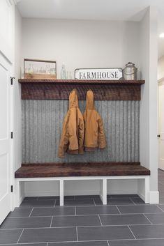 Mudroom Laundry Room, Mud Room Lockers, Mud Room Garage, Small Mudroom Ideas, Home Building Tips, Room Additions, Cabin Homes, Home Remodeling, New Homes