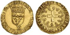 AV Goldgulden. Germany Coins, Ausburg, Free city. Title of the Emperor Karl V. 1519-1558. 3,26g. F 23. Better than VF. Price realized 2011: 700 USD.