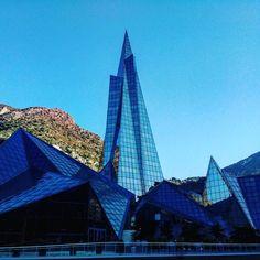 Little tiny shiny Andorra #andorra #andorralavella #europe #pyrenees #mountains #spain #france #traveling #travelgram #travelingram #igtravel #photooftheday #worlderlust #architecture #urban #instagood #archilovers #lookingup #archidaily #geometry #geometric