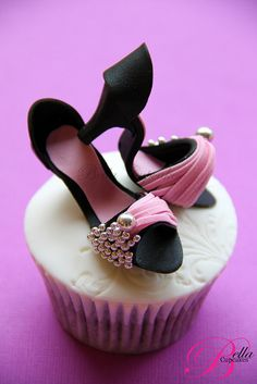 Stiletto cupcake.  If I could wear heels and these weren't sized for a Barbie doll, I would wear these shoes.