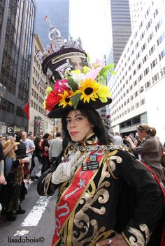The annual Easter parade along Fifth Avenue, Sunday, in New York. The parade, which is more of a stroll than a parade, is more informal than the city\'s other parades. There are no bands, no floats, and no formations, and anyone can participate.