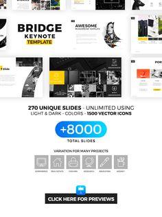 Bridge Keynote Template - Creative #PowerPoint #Templates Download here: https://graphicriver.net/item/bridge-keynote-template/19425104?ref=alena994