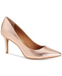 Calvin Klein Women's Gayle Pointed-Toe Pumps - Pink 9.5M