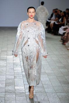 Aisling Farrell PVC and polystyrene ball coat...textiles