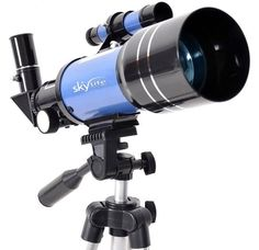 Telescópio 70mm SkyLife Tycho 2.8 + tripé alto + luneta buscadora + CD-ROM