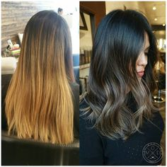 Process | Modern Salon  # brunette  # balayage   Nice transition to Fall.