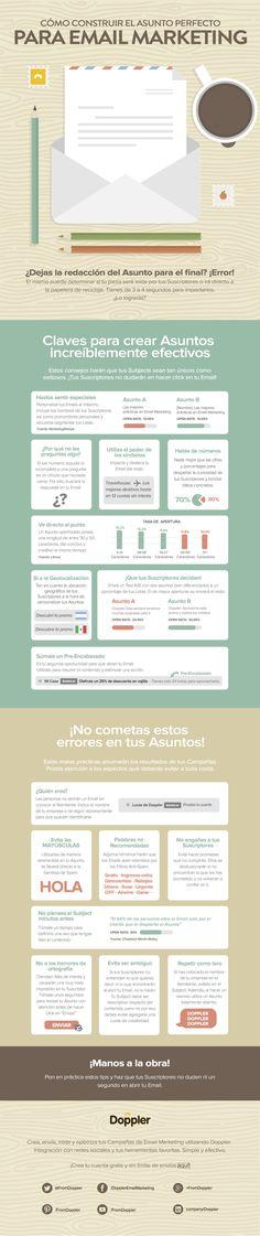 Construye el asunto perfecto para el email marketing #infografia #infographic #marketing
