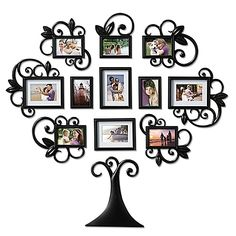 11 Piece Family Tree Photo Picture Frame Collage Set Black Wall Art Home Decor. Frame Wall Collage, Tree Collage, Collage Picture Frames, Frames On Wall, Picture Wall, Family Tree Photo, Family Tree Frame, Photo Tree, Collage Foto