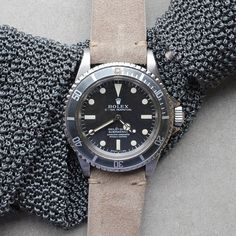 Rolex Sub. with beautyfull leather strap