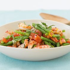 Der Bohnensalat mit dem gewissen Extra: gegarte Flusskrebsschwänze. Wer die Menge verdoppelt, hat eine elegante und vor allem köstliche Vorspeise für...