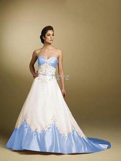 blue white wedding dresses