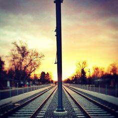 Unfinished line in Lakewood, - Culligan Herrmann Lakewood Colorado, Light Rail, Mountain High, Insta Photo, Rocky Mountains, Cn Tower, Railroad Tracks, Sunrise, Instagram