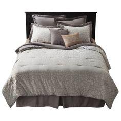 Geo 8 Piece Bedding Set - Gray, bright sheets & throw pillows