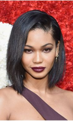 [Black Friday Deals] In Stock Yaki Straight Short Bob Chanel Iman Inspired Human Hair Full Lace Wig - Stock - EvaWigs