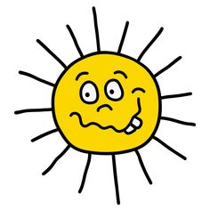 The hand drawing of a funny sun Illustration , Funny Sun, Sun Illustration, Tweety, Pikachu, How To Draw Hands, Merry, Cartoon, Abstract, Drawings