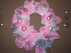 pink/silver wreath