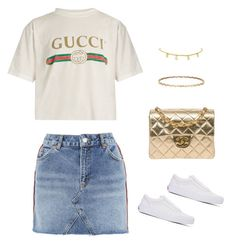 """Untitled #644"" by maritzawaffles on Polyvore featuring Gucci, Topshop, Vans and Chanel"