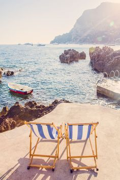Two Chairs, La Fontelini Capri Print by Gray Malin from The Well Appointed House Wanderlust Travel, Malta, Visit Italy, Outdoor Furniture Sets, Outdoor Decor, France, Amalfi Coast, Cruises, Travel Destinations