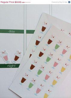 ON SALE Planner Stickers 32 Milk Shake Stickers Life Planner Stickers Day Planner Stickers