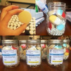Pill-shaped sugar cookies for pharmacy technician day (10/20). Label and all!