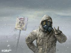 This could be neat for a Fallout NPC.     Google Image Result for http://chrisnarbone.files.wordpress.com/2011/04/drawn_wallpapers_nuclear_winter_016548_.jpg