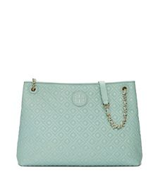 Northern Lights Tory Burch Marion Quilted Chain-shoulder Slouchy Tote