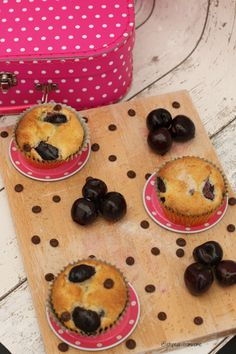 Cherry & Chocolate Chip Muffins - ET Speaks From Home